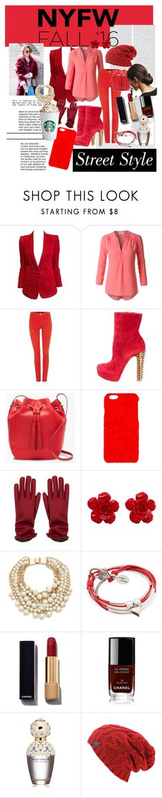 """""""nyfw is gorgeous"""" by bunnycuteness ❤ liked on Polyvore featuring Balmain, LE3NO, J Brand, Christian Louboutin, J.Crew, Dolce&Gabbana, Chanel, Kate Spade, Lizzy James and Marc Jacobs"""