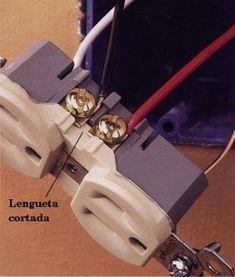 Conexión De Medio Enchufe Electricidad Y Electronica Diagrama De Instalacion Electrica Instalación Electrica