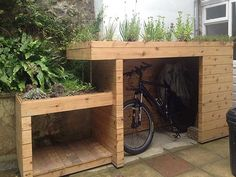 fahrradschuppen aus holz storage and room. Black Bedroom Furniture Sets. Home Design Ideas