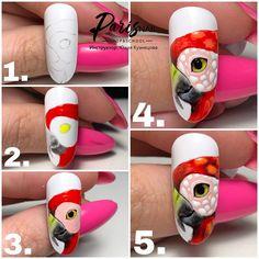 Amazing Tips For The Best Summer Nails – NaiLovely Cartoon Nail Designs, Animal Nail Designs, Fruit Nail Designs, Animal Nail Art, Nail Art Designs, Funky Nail Art, Funky Nails, Nail Art Hacks, Nail Art Diy