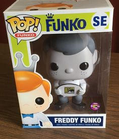 """Limited Rare HTF SDCC 2013 Black & White 9"""" Freddy Funko Only 240 pieces"""