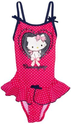Chammy Kitty ME1833 Girl's Swimsuit: Also available in Indigo Blue; Price: £16.35 Amazon.co.uk: Clothing