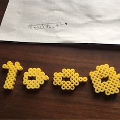 ふじた・だのいち・チャッキーのアイロンビーズ工房の画像 3d Perler Bead, Crochet Earrings, Hama Beads Patterns