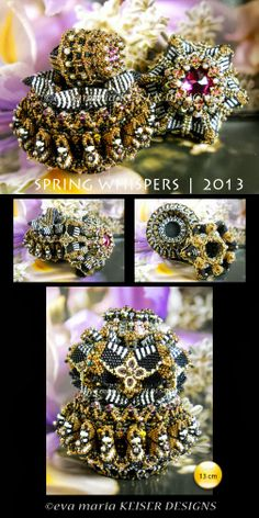 amazing beading by Eva Maria Keiser Designs: Vessel: Spring Whispers