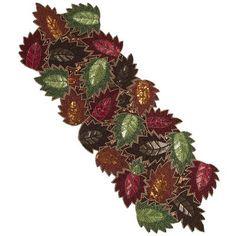 Harvest Beaded Leaf Table Runner. <>  Store: Pier 1 Imports. <>  Item #: 2619508. <>  Price: $49.95.