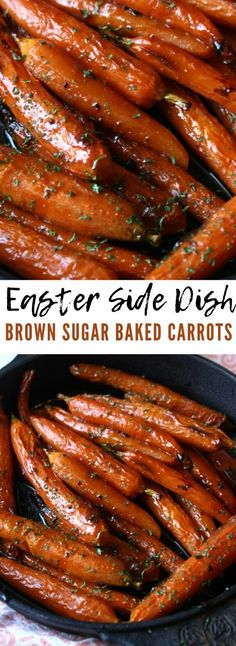 Brown Sugar Baked Carrots Easter Side Dish - These brown sugar baked carrots are the perfect Easter veggie side dish! Brown Sugar Baked Carrots Easter Side Dish - These brown sugar baked carrots are the perfect Easter veggie side dish! Easter Side Dishes, Dinner Side Dishes, Side Dishes Easy, Vegetable Side Dishes, Vegetable Recipes, Vegetarian Recipes, Baked Veggie Recipes, Meat Recipes, Recipies