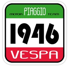 Pegatinas «VESPA 1946» de madeofthoughts   Redbubble