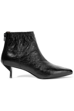3.1 Phillip Lim - Blitz Ruched Textured-leather Ankle Boots - Black