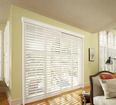 window treatment for sliding glass door with white shutter hasslefree window treatment for sliding glass door