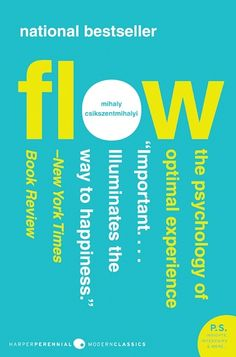 Flow by Mihaly Csikszentmihalyi. One of the most refreshing and insightful reads on how we enjoy life and how we can enjoy it more I have yet read. -Jon Levi Morris, Information Literacy Librarian