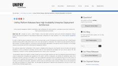 #UniPay Platform Releases New #HighAvailability Enterprise Deployment Architecture http://unipaygateway.com/en/unipay-gateway-press-releases/unipay-platform-releases-new-high-availability-enterprise-deployment-architecture