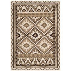 Safavieh Indoor/ Outdoor Veranda Cream/ Brown Contemporary Rug (5'3 x 7'7) | Overstock™ Shopping - Great Deals on Safavieh 5x8 - 6x9 Rugs