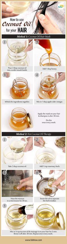 use coconut oil for your hair #SilkySmoothHair