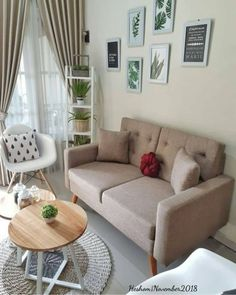 Keep updated with the newest small living room decor ideas (chic modern). Discover excellent methods for getting fashionable design even though you have a small living room. New Living Room, Living Room Interior, Living Room Decor, Bedroom Decor, Small Living, Home Room Design, Living Room Designs, House Design, Minimalist Home