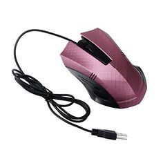 Ugood Wireless Mouse 2.4GHz Silent USB Wireless 1600DPI Optical Pro Gaming Mouse Mice for PC Laptop Hot Pink