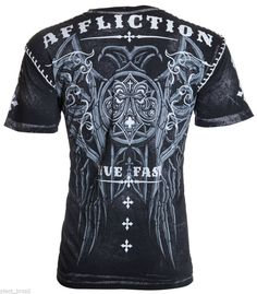 AFFLICTION Mens T-Shirt ROYALE Tattoo Fight Biker MMA UFC Whipstitch M-XXL $58 #Affliction #GraphicTee