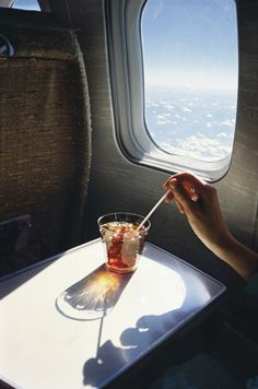Fly with Jumpjet and never have to worry about the person in front leaning back... Enjoy your cocktail! www.Jumpjet.com