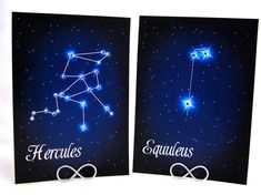 Star Constellations Sparkling with Swarovski Crystals Wedding Table Number Cards on Etsy, $3.50