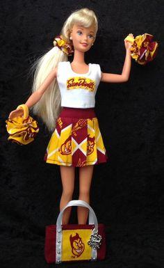 ASU BARBIE CHEERLEADER UNIFORM Arizona State University Sun Devils Football  #ArizonaStateSunDevils