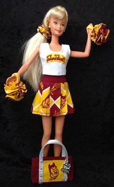 ASU BARBIE CHEERLEADER UNIFORM Arizona State University Sun Devils Football  #ArizonaStateSunDevils