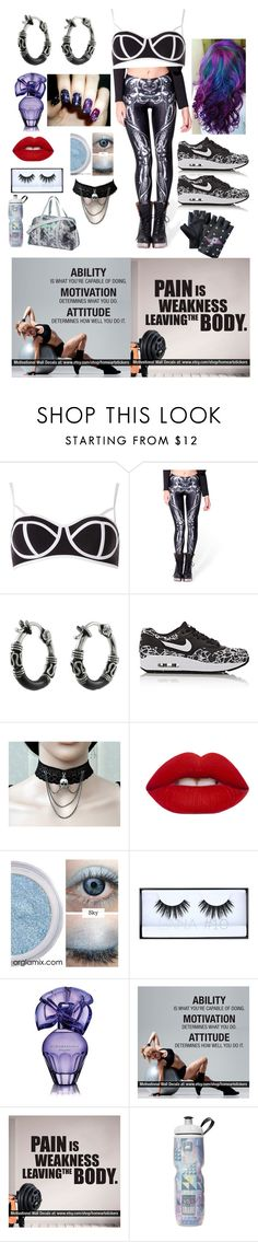 """""""Fitness is my Witness"""" by raven-ranger on Polyvore featuring Dorothy Perkins, WithChic, Tressa, NIKE, Lime Crime, Huda Beauty, BCBGMAXAZRIA and Puma"""