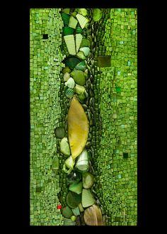 "MAZEL TOV SERIES | Kim Emerson Mosaics. 18"" wide x 36"" high x 2"" deep"