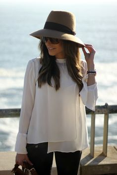 White Blouse and hat