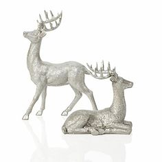need to find some cheap deer figurines, paint them, and then glitter them for this Christmas...