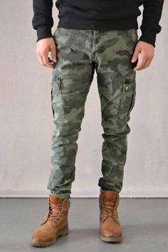 492ad6c05ba1 Ανδρικό παντελόνι παραλλαγής PANT-5016-kh Παντελόνια   Άνδρας Timberlands