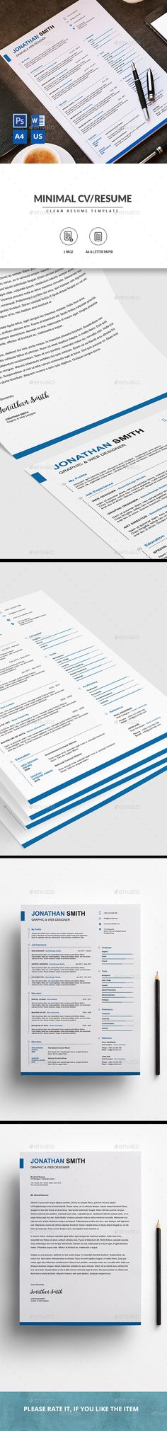 Red 2 in 1 Word Resume Pack Resume layout, Graphic resume and - resume 2 pages