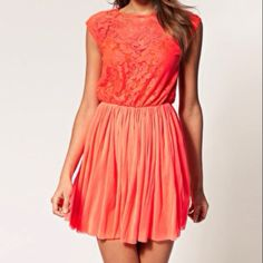 Got this neon red dress from asos