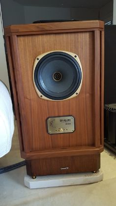 Tannoy Stirling with custom stands.