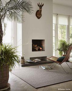 Lekker ontspannen in een sfeervol #interieur met #vloerkleed op maat. Desso Studio Nature