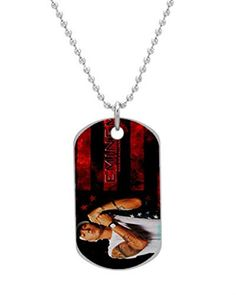 Eminem Custom Dog Tag with Neck Chain Aluminum Oval Dog Tag Large Size Necklace Design by Stbenn * Learn more by visiting the image link.