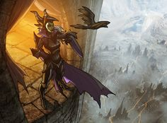 Maleficent and Diaval