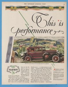 1928 Marmon Motor Car Indianapolis IN Indiana Antique 78 Victoria Coupe Art Ad