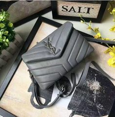 cheapsaintlaurentbags 2017 Discount Saint Laurent Toy Loulou Strap Bag in  Grey