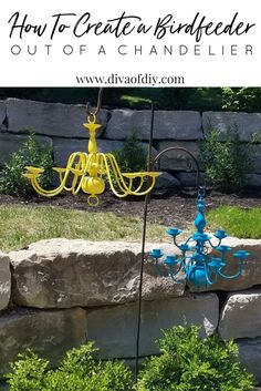 Save the landfill and feed the birds at the same time http://divaofdiy.com/how-to-make-a-diy-bird-feeder-out-of-an-old-chandelier/?utm_campaign=coschedule&utm_source=pinterest&utm_medium=Diva%20of%20DIY%20%7C%20Tutorials%20For%20Your%20Favorite%20DIY%20Projects&utm_content=How%20to%20make%20a%20DIY%20bird%20feeder%20out%20of%20an%20old%20chandelier