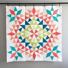 After ooing and ahhing over this #kaleidoscopequilt that Fabric Heart is making with #PureElements, we came to the conclusion that it\'s going to be DIVINE! What do you think? #WIP . . . #artgalleryfabrics #handmade #fabriclove #modernfabric #fabrics #makersgonnamake #crafty #diy #quilt #quilting #quiltlove #quilts #quilter #quiltersofinstagram #sewing #sew #sewmuchcrafting #sewinglove #textiles