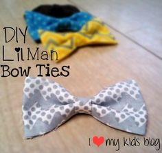 Easy DIY no sew  bow  ties– under 40 cents a piece!