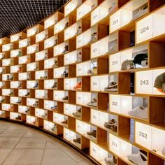Fantastic display for running shoes. Beautifully lit and organized (in Sydney, Australia)