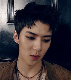 Is this an actual anime character come to life? Exo K, Sehun, Korean People, My Youth, Young And Beautiful, Bang Bang, Kpop, Asian, Memes