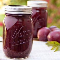 Plum Jam: Ingredients •12 lbs sweet ripe plums, rinsed •4½ cups white sugar •8 pint-sized jars with lids.