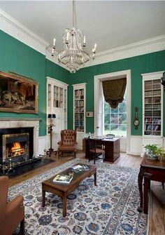 Sitting room in an elegant Irish Georgian mansions, built in 1785