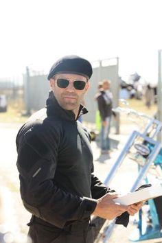 Jason statham On Expendables 3 Set