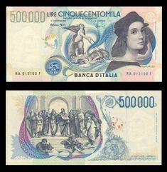 Banconota da 500.000 lire italiane raffigurante Raffaello Sanzio