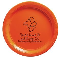 The Friendly Ghost Paper Plates