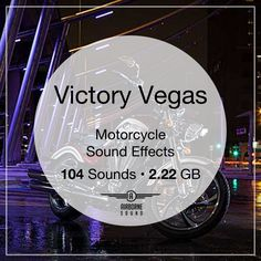 104 motorcycle passes, departures, arrivals, revs, and riding sound effects. Motorcycle Sounds, Victory Vegas, Sound Library, Victory Motorcycles, Sound Effects, Victorious, Libraries, Library Room, Bookcases