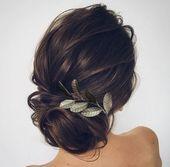 30 marvelous wedding hairstyles ideas in 2019 34 – Hair Styles Bridal Hair Updo, Wedding Hair And Makeup, Hair Makeup, Hair Wedding, Hairstyle Wedding, Vintage Wedding Hairstyles, Wedding Beauty, Wedding Nails, Boho Wedding