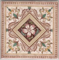 Victorian Antique Ceramic Tile
